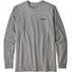Patagonia P-6 Logo Langærmet T-shirt Herrer grå